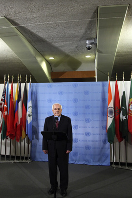 Palestinian Representative Briefs Media