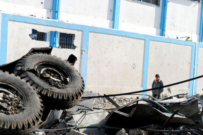 UNRWA Building Damaged in Gaza City