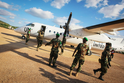 Djiboutian A.U. Troops Arrive in Somalia