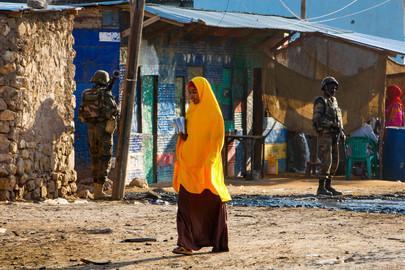 A.U. Djiboutian Troops in Belet Weyne, Somalia
