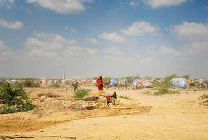 A.U. Troops Patrol IDP Camp in Belet Weyne, Somalia