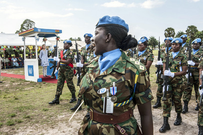 UNMIL Awards Medals to Ghanaian Blue Helmets