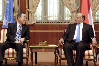Secretary-General Meets President of Yemen in Sana'a