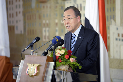 Secretary-General in Yemen for Anniversary of Transition Agreement