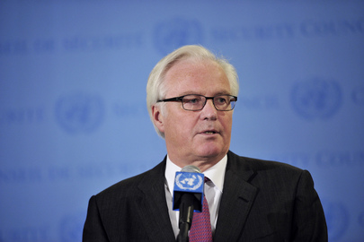 Permanent Representative of Russia Speaks on Mideast Situation
