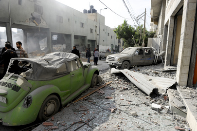 Gaza City after Air Strikes