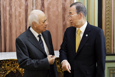 Secretary-General Meets Head of Arab League in Cairo