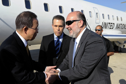 Secretary-General Arrives in Tel Aviv