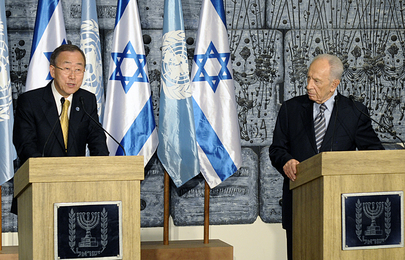 Secretary-General and Israeli President Brief Media