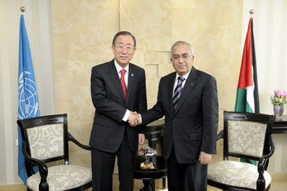 Secretary-General Meets Palestinian Authority Prime Minister