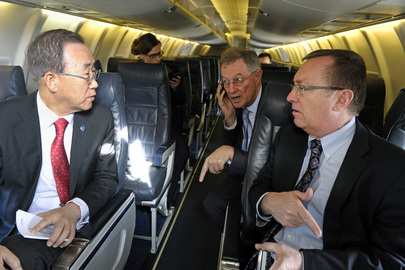 Secretary-General and Senior Officials En Route to Cairo