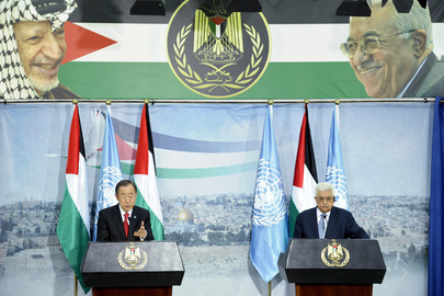 Secretary-General and Palestinian Authority President Brief Press