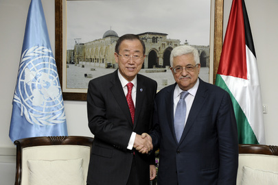 Secretary-General Meets Palestinian Authority President in West Bank