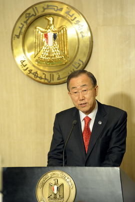 Secretary-General Speaks to Reporters in Cairo