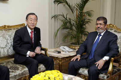 Secretary-General Meets President of Egypt