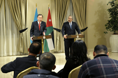 Secretary-General and Jordanian Foreign Minister Brief Media