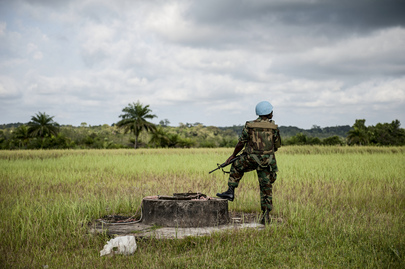 UN Peacekeeper on Duty in Liberia