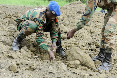 UNMAS Destroys Anti-Personnel Mines in Lomo
