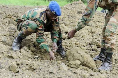 UNMAS Destroys Anti-Personnel Mines in Lomo
