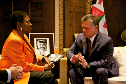 UN Humanitarian Affairs Chief Meets King Abdullah of Jordan