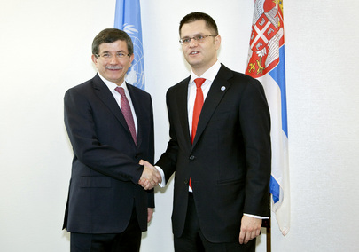 General Assembly President Meets Foreign Minister of Turkey