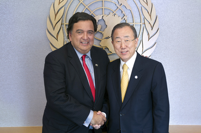 Secretary-General Meets Former New Mexico Governor