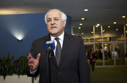Palestinian Representative Speaks to Journalists on Observer State Status