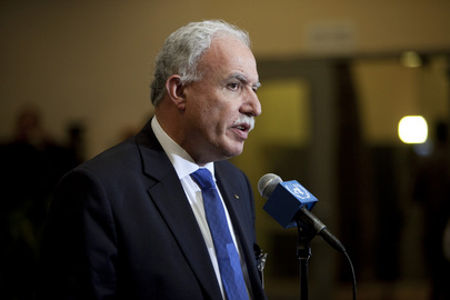 Palestinian Foreign Minister Speaks to Press on Observer State Status