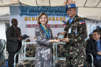 UN Medal Parade for UNMIL Philippine Peacekeepers