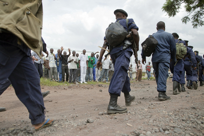 DRC Police Deployed to Goma