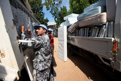 UNAMID Donates 300 Beds to Local Hospital