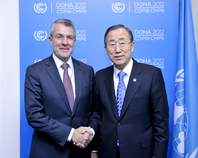 Secretary-General Meets Australian Parliamentary Secretary for Climate Change