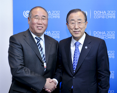 Secretary-General Meets Vice Chair of China's Development and Reform Commission at Doha