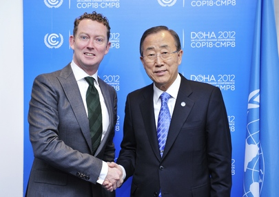 Secretary-General Meets U.K. Climate Change Minister at Doha