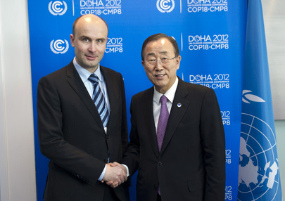 Secretary-General Meets Polish Environment Minister at Doha