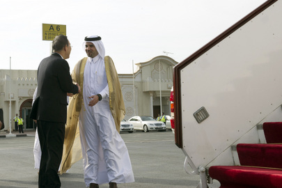 Secretary-General Departs Qatar for Kuwait