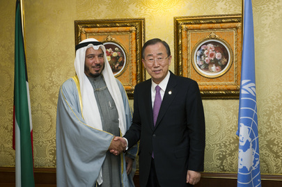 Secretary-General Meets Humanitarian Envoy for Kuwait