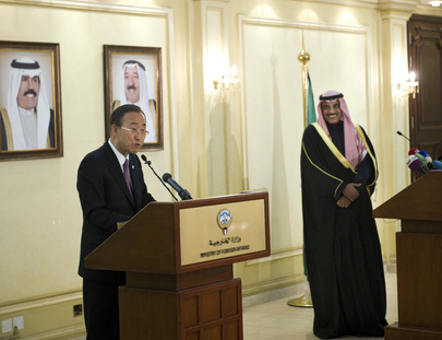 Secretary-General and Kuwaiti Foreign Minister Brief Press