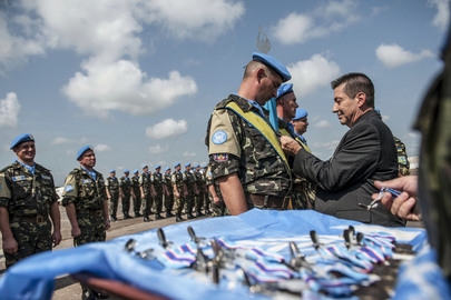 Ukrainian Blue Helmets in Liberia Awarded Medals