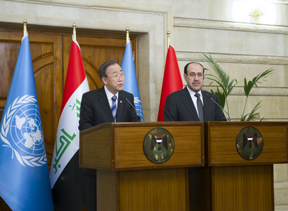 Secretary-General and Iraqi Prime Minister Brief Press