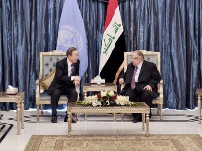 Secretary-General Meets President of Iraq in Baghdad
