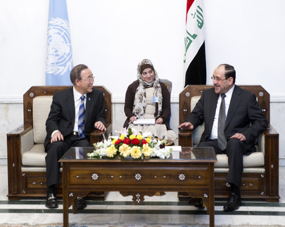 Secretary-General Visits Iraqi Prime Minister in Baghdad