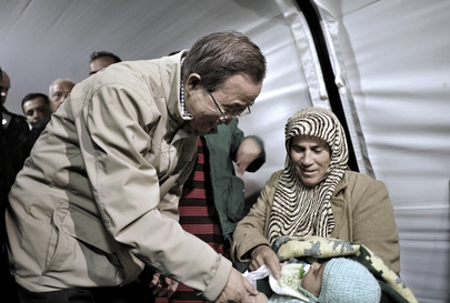 UN Chief Visits Syrian Refugees in Turkey