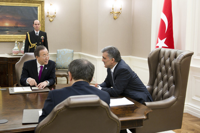 Secretary-General Meets Turkish President in Ankara