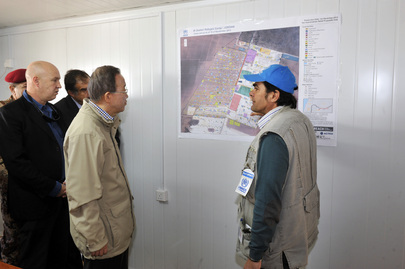 Secretary-General Visits Syrian Refugee Camp in Jordan