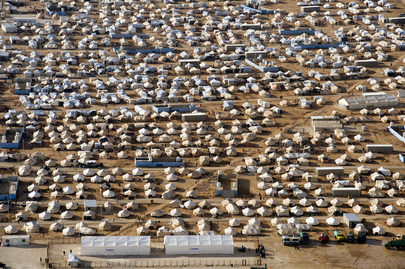 Jordan Camp Host to Thousands of Syrian Cross-Border Refugees