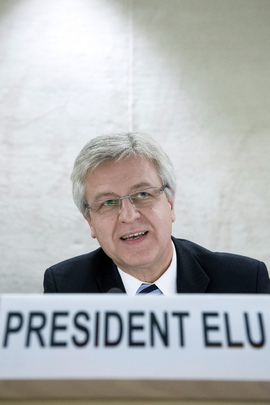 Rights Council Elects 2013 President