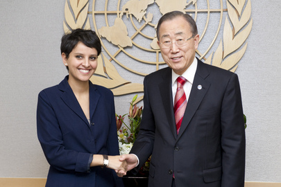 Secretary-General Meets Women's Rights Minister of France