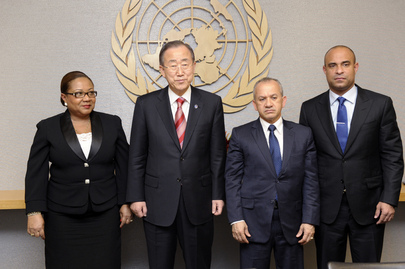 Secretary-General Meets Prime Minister of Haiti, Health Ministers of Haiti and Dominican Republic