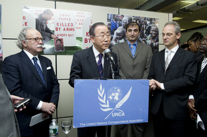 Secretary-General Attends Opening of UNCA Exhibit